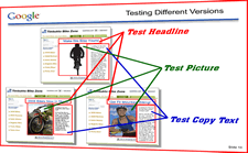Areas of page to test